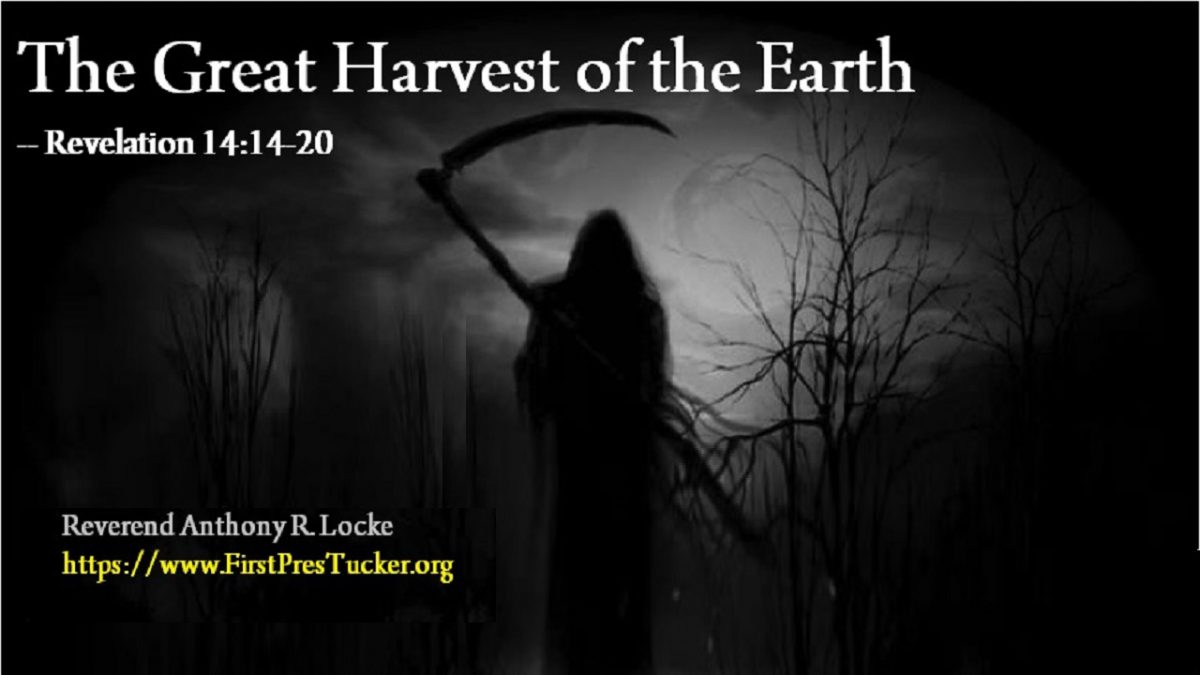 The Great Harvest of the Earth Revelation 14:14-20 Anthony R Locke Associate Reformed Presbyterian Synod