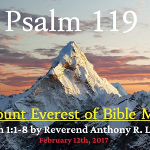 Psalm 119 -- The Mount Everest of Bible Memory